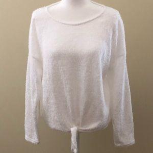 Lauren Conrad White Eyelash Sweater - XL - NWOT